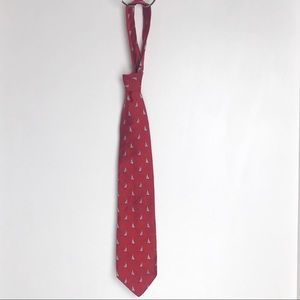 Brooks Brothers Makers Red Tie with Sailboats